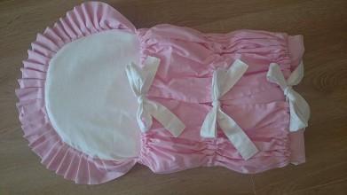 Textil - Ružová perinka jemné bodky - na želanie - obdĺžniková - 7927605_