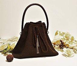 Kabelky - Háčkovaná kabelka Horúca čokoláda - 7927861_