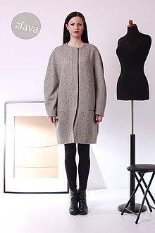 Kabáty - ZĽAVA! MIESTNy oversized kabát - 7926594_