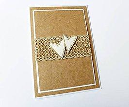 Papiernictvo - pohľadnica svadobná / poďakovanie rodičom - 7926179_