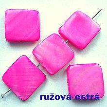 Korálky - Perleť 18mm-1ks (ružová ostrá) - 7925891_