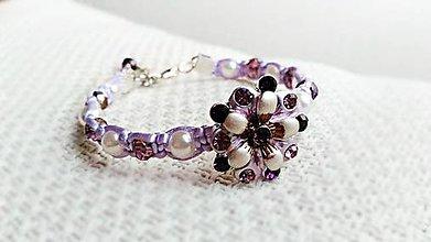 Náramky - Kvietok s perličkami - 7926250_
