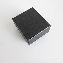 Obalový materiál - Krabička na šperky jednoduchá 4,5x5 / perleťová modročierna 2.trieda - 7927834_