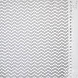 Textil - sivý mini cikcak; 100 % bavlna Francúzsko, šírka 160 cm, cena za 0,5 m - 7928850_