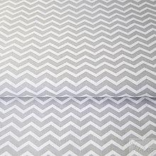 Textil - sivý mini cikcak; 100 % bavlna Francúzsko, šírka 160 cm, cena za 0,5 m - 7928851_