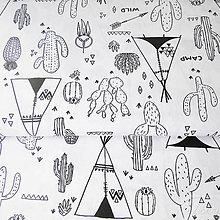 Textil - préria, látka - omaľovánka; 100 % bavlna Francúzsko, šírka 160 cm, cena za 0,5 m - 7928967_