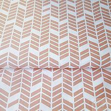 Textil - ružové šípky; 100 % bavlna Francúzsko, šírka 160 cm, cena za 0,5 m - 7929026_