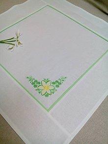 Úžitkový textil - Biely obrúsok s výšivkou - 7929306_