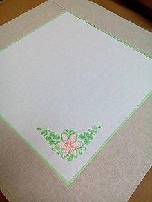 Úžitkový textil - Obrúsok s výšivkou - 7929646_