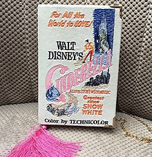 Kabelky - Kabelka ve formě knihy Popelka - 7929343_