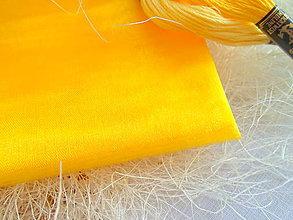 Textil - organza žltá - 7927388_