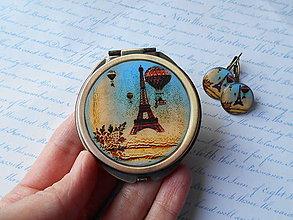 Zrkadielka - Paris no.11 (zrkadielko + náušničky) - ZĽAVA zo 6,50 eur - 7929163_