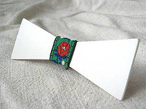 Doplnky - Motýlik s folklórnou stužkou (STMO4) - 7929556_