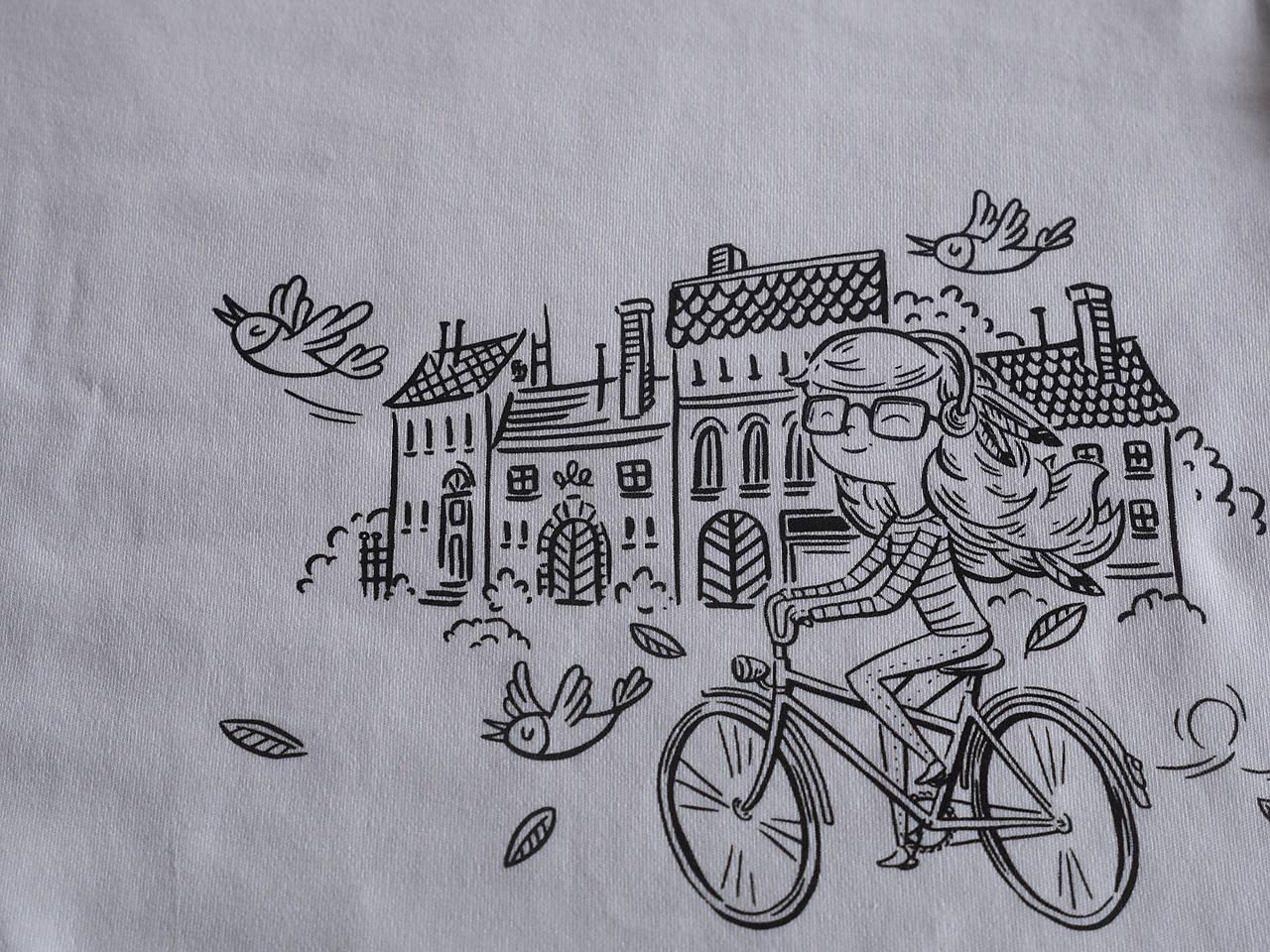 """Tričko s ilustráciou od Adrian Macho """"Vietor vo vlasoch""""  vek.4-6, 110-134cm"""