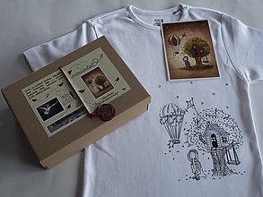 """Detské oblečenie - Tričko s ilustráciou od Adrian Macho """"Dobrodružstvo čaká!""""  vek.8-10, 140-156cm - 7926022_"""