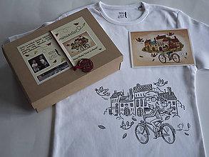 """Detské oblečenie - Tričko s ilustráciou od Adrian Macho """"Vietor vo vlasoch""""  vek.8-10, 140-156cm - 7926063_"""