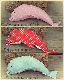 Dekorácie - Látkový delfín - 7929241_