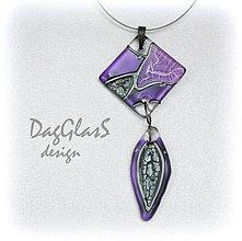Náhrdelníky - sklenený šperk  - dvojdielny... - 7927643_