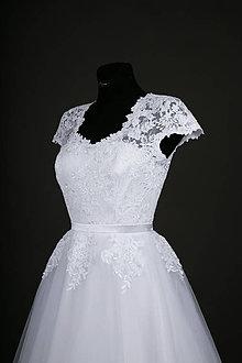 Šaty - Svadobné šaty s tylovou kruhovou sukňou - 7928634_