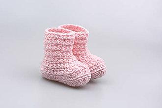 Topánočky - Bledoružové čižmy EXTRA FINE - 7926817_