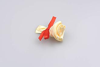 Pierka - Pierko krémové ruža (krémovo-červené) - 7926977_