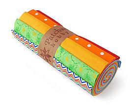 Textil - Bavlnené látky - rolka Chevron Rainbow - 7926699_