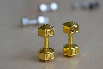 Korálky - Kovové korálky FIT LIFE zlaté, 2ks - 7926681_