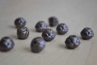 Korálky - Tibetské korálky lotusy, 1.20€/10ks - 7926700_