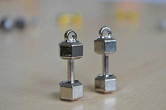 Komponenty - Prívesky činky, 4€/2ks - 7926708_