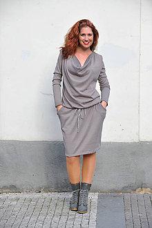 Šaty - Teplé svetrové šaty do chladného rána - 7927151_