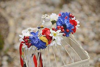 Ozdoby do vlasov - AKCIA folk venček by michelle flowers - 7930546_