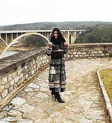 Kabáty - leloš tyrkysovo hnedý-patchwork - 7932948_