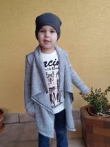 Detské oblečenie - Sivy kardigan - 7932593_
