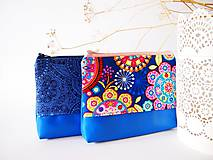 Kozmetická taška veľká-mandaly s modrou