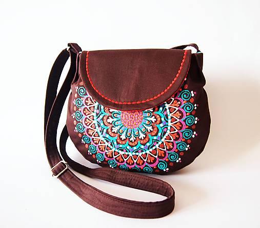 Malá hnedá kabelka s mandalou   DARTASKA - SAShE.sk - Handmade Kabelky a46282aa378