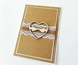 Papiernictvo - pohľadnica svadobná - 7930347_