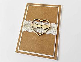 Papiernictvo - pohľadnica svadobná - 7930465_