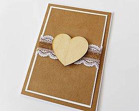 Papiernictvo - pohľadnica svadobná - 7930550_
