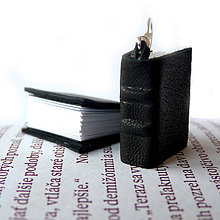 Náušnice - good look with book in black - 7933135_