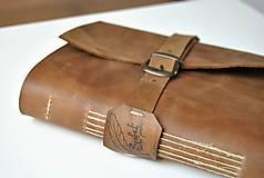 - archaický kožený zápisník BRIAN - 7933671_