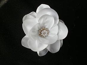 Ozdoby do vlasov - Saténový kvet - 7933067_