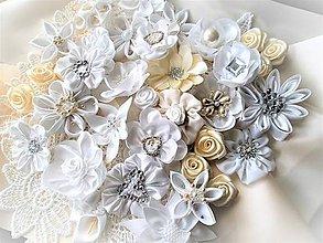 Kytice pre nevestu - Saténové kvety - 7933198_