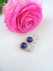 Náušnice - lapis lazuli náušnice v striebre - 7932225_