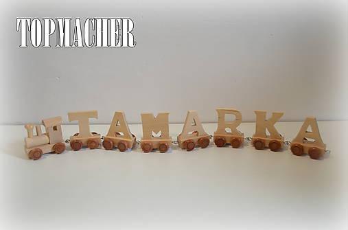 Drevený písmenkový vláčik - TAMARKA