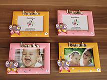 Detské doplnky - Ružový fotorámik motýlik - 7930625_