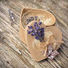 Sady šperkov - Levanduľa III. - sada šperkov v darčekovej krabičke - 7931237_