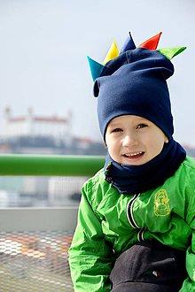 Detské súpravy - Bavlnený set  navy & rooster - 7930901_