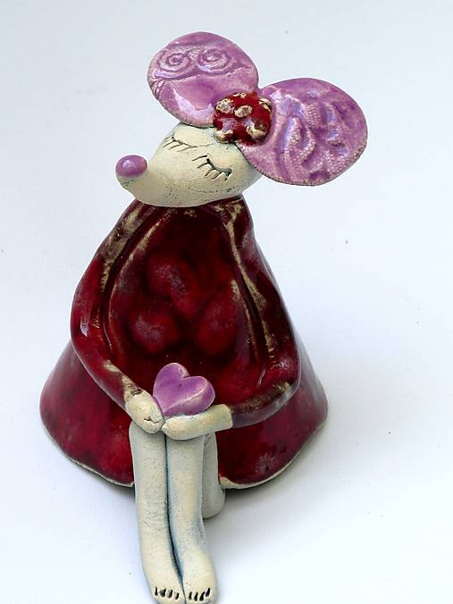 figúrka - myš červená