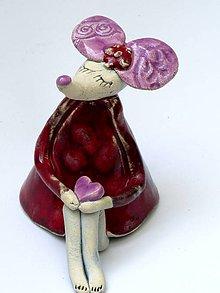 Dekorácie - figúrka - myš červená - 7931984_