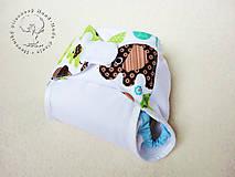 - Novorodenecké Vrchné PUL plienkové nohavičky s kridelkami (veľ. XS-S)